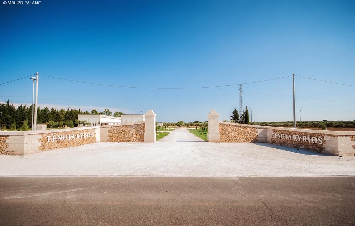 INGRESSO - WELCOME @TENUTA KYRIOS © MAURO PALANO www.tenutakyrios.it