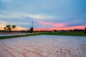 Un tramonto rosso come la poassione che ci muove @ Tenuta Kyrios  © MAURO PALANO PICCOLA www.tenutakyrios.it